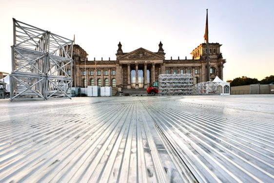 Arena Panels - In use in front of the Reichstag building