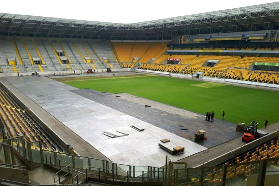 Arena Panels - Ground protection for lawn in the stadium