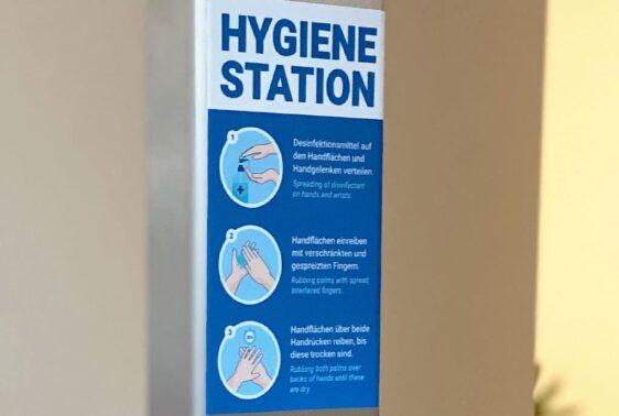 Hygienestation Desinfektionsmittelspender