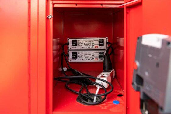 mobile Schließfächer mit USB-Ladestation