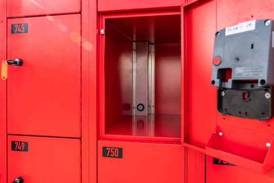 mobile lockers with USB charging station